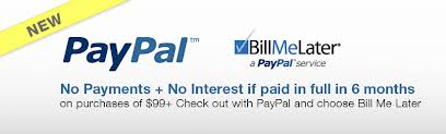 Check out with PayPal and choose Bill Me Later. Subject to credit approval. See Terms.